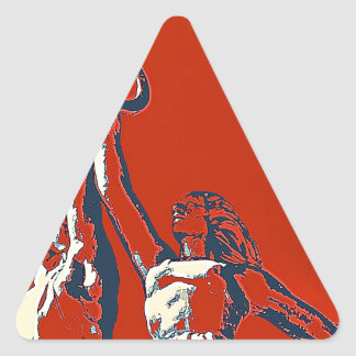 Rise of The Red Worker II Triangle Sticker