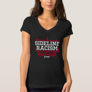 RISE Sideline Racism T-shirt women's black/red