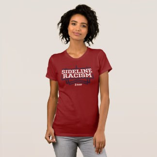 RISE Sideline Racism T-shirt women's red/navy