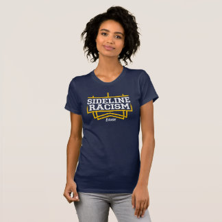 RISE Sideline Racism T-shirt women's navy/yellow