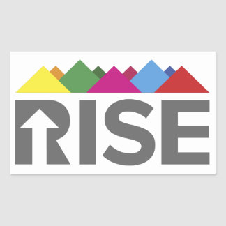 RISE stickers! Rectangular Sticker