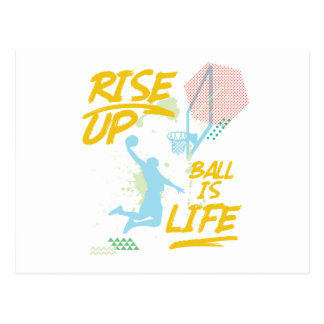Rise Up. Ball Is Life. Basketball Baller Coach Postcard