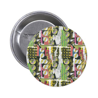 Rise Up Collage Pattern Pinback Button