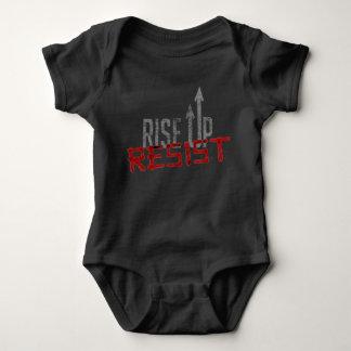Rise Up, Resist Dark Baby Bodysuit
