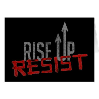 Rise Up, Resist Dark Greeting Card