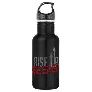 Rise Up, Resist Dark Water Bottle