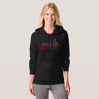 Rise Up, Resist Dark Women's Fleece Hoodie