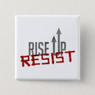Rise Up, Resist Square Button