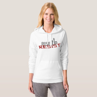 Rise Up, Resist Women's Fleece Pullover Hoodie