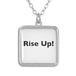 Rise Up! Silver Plated Necklace