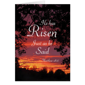 Risen Lord Sunrise Easter Card