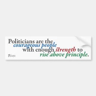 Rising above Principle Bumper Sticker