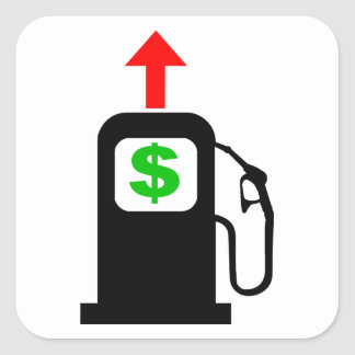 Rising Gas Prices Square Sticker
