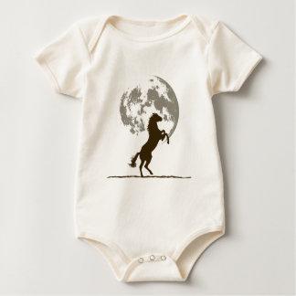 Rising Horse Moon (light) Baby Bodysuit