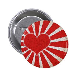 Rising Love 6 Cm Round Badge