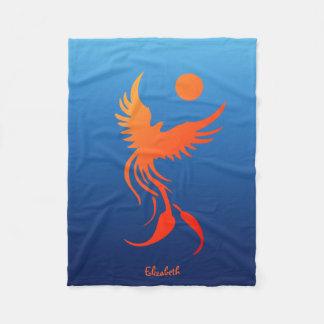 Rising Phoenix in Flames Blanket