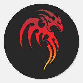 Rising Phoenix Tribal Symbol Classic Round Sticker