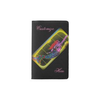 rising pink mosaic mermaid pocket moleskine notebook