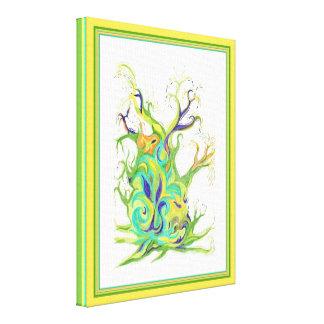 Rising Sap Tree abstract art Canvas Print