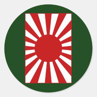 Rising Sun Flag 4 Classic Round Sticker