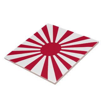 Rising Sun Flag Large Square Tile