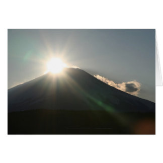 Rising sun on Mt.Fuji Greeting Card