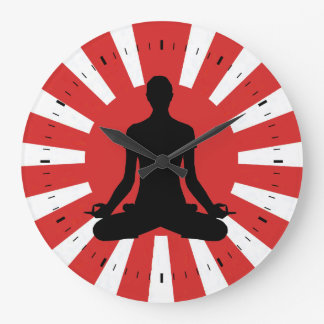 Rising Sun Yoga 4 meditation Wallclocks