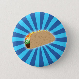 Rising Taco 6 Cm Round Badge