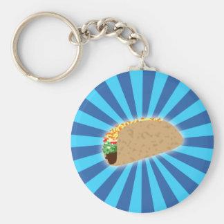 Rising Taco Basic Round Button Key Ring