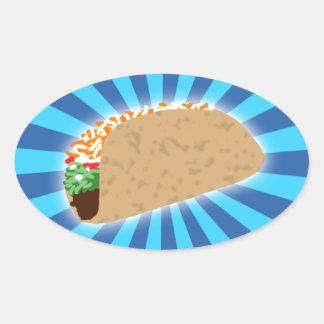 Rising Taco Oval Sticker
