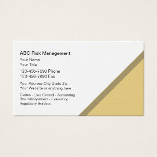 Risk Management Business Cards