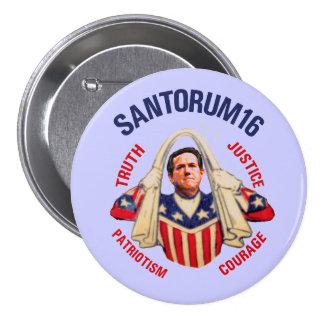 Risk Santorum for President 2016 7.5 Cm Round Badge