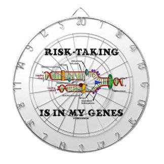 Risk-Taking Is In My Genes DNA Replication Humor Dart Boards