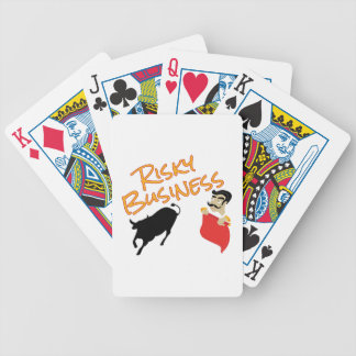 Risky Business Bicycle Playing Cards