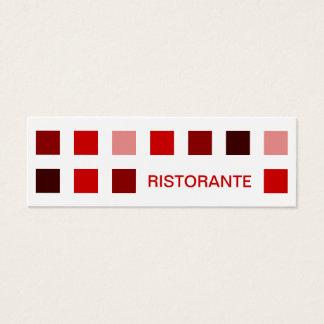 RISTORANTE (mod squares) Mini Business Card