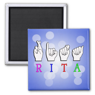 RITA ASL FINGERSPELLED NAME SIGN MAGNET