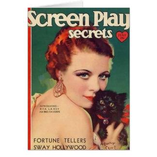Rita La Roy 1930 magazine cover color Card