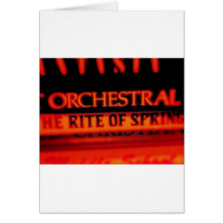 Rite of Spring Music Gifts Card