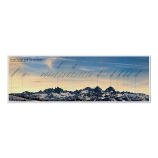 Ritter Range and the Minarets poster