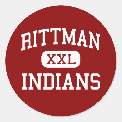 Rittman - Indians - High School - Rittman Ohio Stickers
