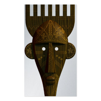 Ritual African Mask Pack Of Standard Business Cards