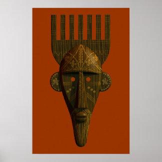 Ritual African Mask Poster