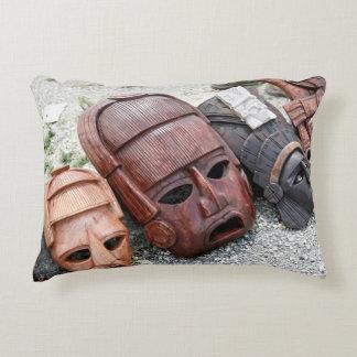 Ritual Masks - Mexico Decorative Cushion