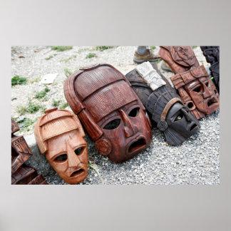 Ritual Masks - Mexico Poster