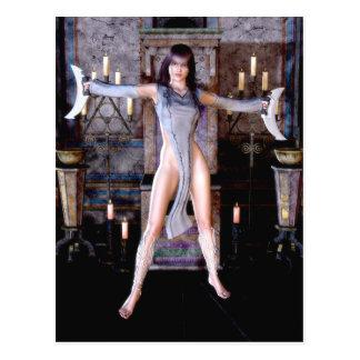 Ritual Of The Moon Goddess Gothic Fantasy Postcard