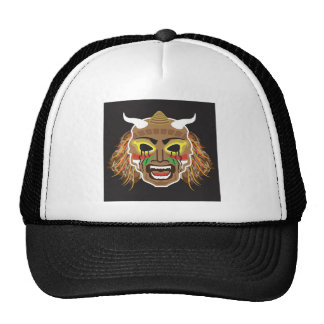Ritualistic Tribal Mask Vector Cap