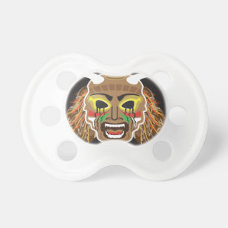 Ritualistic Tribal Mask Vector Pacifiers