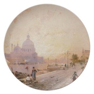 Riva degli Schiavoni, Venice by Franz Unterberger Plate