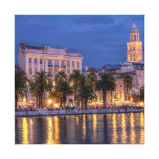 Riva waterfront, Split, Croatia Canvas Print