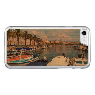 Riva waterfront, Split, Croatia Carved iPhone 8/7 Case